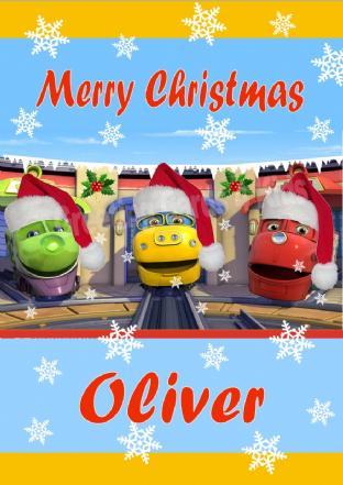 Personalised Chuggington Christmas Card